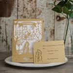 Romance Love Laser Cut Wedding Invitation image