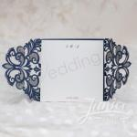 Symmetrical Lace Pocket Laser Cut Wedding Invitation Card image