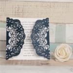 Cheap Laser Cut Lace Wedding Invitations image