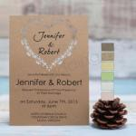 Graceful Heart Design Laser Cut Wedding Invites image