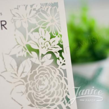 Wedding  Summer Blossom Laser Cut Wedding Invites Image 1