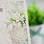 Summer Blossom Laser Cut Wedding Invites image