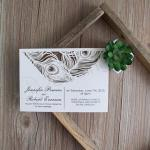 Glamorous Peacock Feather Flat Laser Cut Invites image