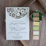 Magical Bohemian Floral Laser Cut Wedding Invitations image