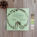 Romantic Bride And Groom Laser Cut Invites image