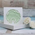 2015 Unique Mint Green Laser Cut Wedding Card Designs Kit image
