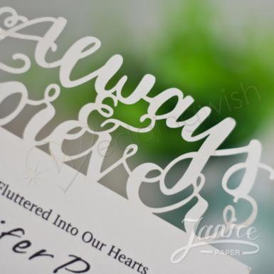 Wedding Always Love Laser Cut Wedding Invitation Card - Wedding Wish Image 1