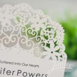 Bohemian Floral Design Laser Cut Wedding Invitation image