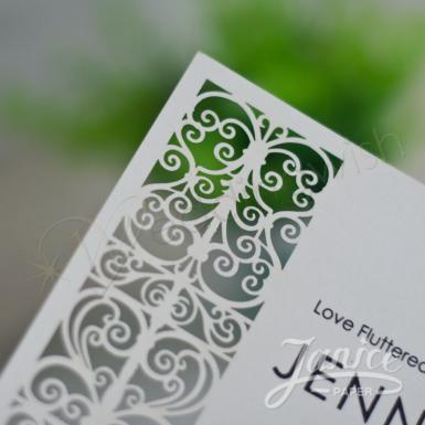 Wedding French Door Flat Laser Cut Invitations - Wedding Wish Image 1