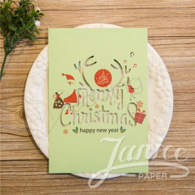 Wedding Joyous and Cheerful Laser Cut Christmas Cards - Wedding Wish Image 1