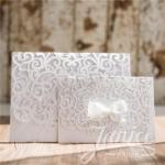 Large Sized Luxurious Northern Star Laser Cut Pocket Wedding Invitation  ( 8.3*5.9 inch) image