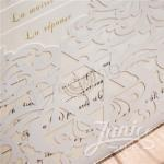 Up-Scale Exquisite Northern Star Laser Cut Wedding Invitation  ( 8.7*6.1 inch) image