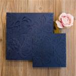 Up-Scale Graceful Laser Cut Pocket Available Wedding Invitation  ( 8.1 * 8.1 inch) image