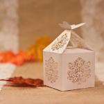 Graceful Butterfly Laser Cut Wedding Favor Boxes x 50 image
