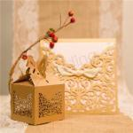 Graceful Laser Cut Wedding Favor Boxes x 50 image