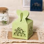 Pretty Floral Laser Cut Wedding Favor Boxes x 50 image