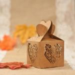 Romantic Heart Laser Cut Wedding Favor Boxes x 50 image