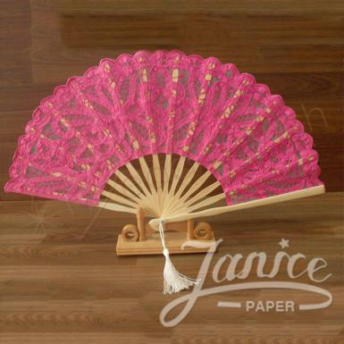 Wedding Exquisite  Lace Fan For All Occasions - Wedding Wish Image 1