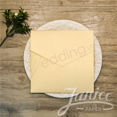 Wedding Elegant Square Pocket Wedding Invitation - Wedding Wish Image 1