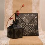 Charming Floral Laser Cut Wedding Favor Boxes image