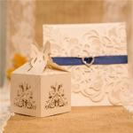Charming Laser Cut Wedding Favor Boxes image