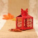 Delicate Butterfly Laser Cut Wedding Favor Boxes image