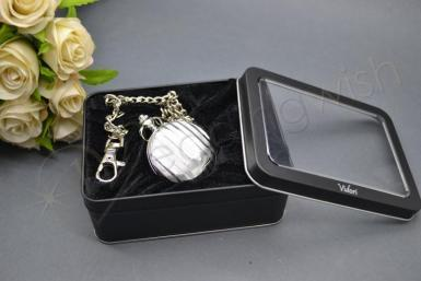 Wedding Fob Watch Silver with Chain - Wedding Wish Image 1