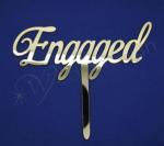 Engagement Gold Cake Topper image