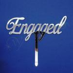 Engagement Silver Cake Topper image