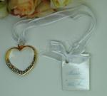 Gold Heart Charm with Diamante Bling image