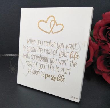 Wedding Gold Love Note Table Sign - Wedding Wish Image 1