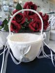 Flower Basket - White with Diamante Clasp image