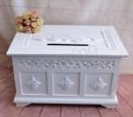 Large White Shabby Chic Wishing Well - Hire image
