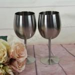 Pewter Pair of Wedding Goblets - Engravable image