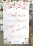 Welcome Sign - Vintage Peach Roses image
