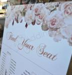 Seating Chart - Vintage Peach Roses image