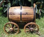 Wine Barrell Rustic Wishing Well - Hire Only image