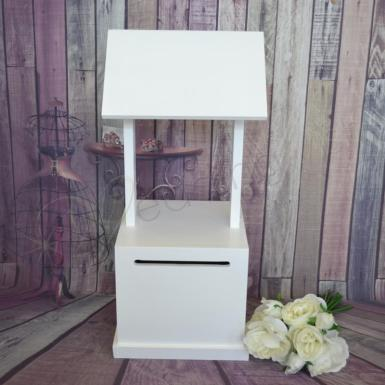 Wedding Deal of the Day - White Wooden Wishing Well - Wedding Wish Image 1