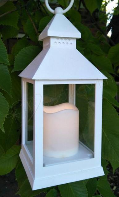 Wedding White LED Lantern Centerpieces - Wedding Wish Image 1