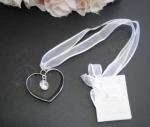 Silver Heart with Hanging jewel image
