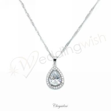 Wedding Cubic Zirconia Necklace and Earring Set - Wedding Wish Image 1