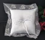 Ring Cushion - Embroidered White I-Do Ring Pillow image