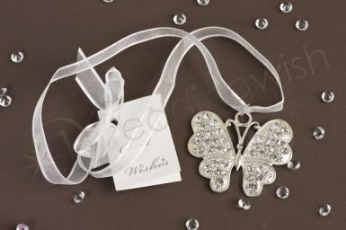 Wedding Deluxe Sterling Silver Butterfly Charm - Wedding Wish Image 1