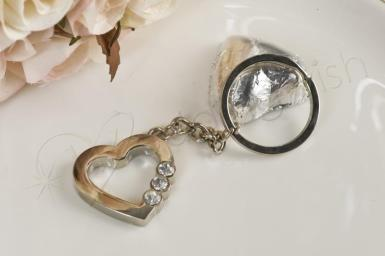 Wedding Sterling Silver Heart Keyring - Wedding Wish Image 1