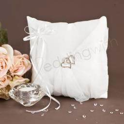 Wedding  Satin and Organza Ring Pillow Image 1