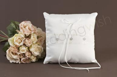Wedding Matte Satin Daisy Ring Pillow - Wedding Wish Image 1