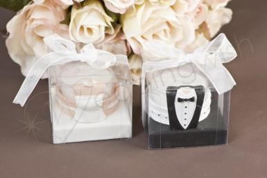 Wedding  Bride and Groom Tealight Candles Image 1