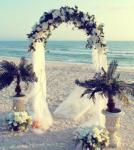 White Metal Wedding Arch - HIRE image
