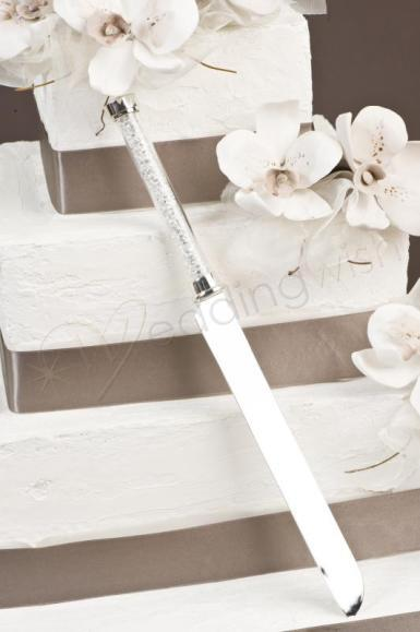 Wedding Crystal Stem Cake Knife - Wedding Wish Image 1