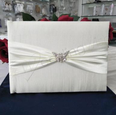 Wedding Crystal Butterfly Guest Book - Wedding Wish Image 1